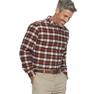 NEW Men's Size XL Plaid Flannel Button Down Shirt